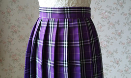 PURPLE PLAID SKIRT Women School Girl Pleated Skirt Mini Plaid Skirt New US0-US16 image 5