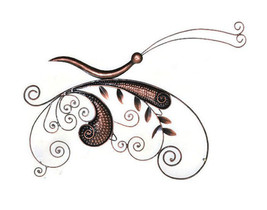 Amish Butterfly Wall Décor Wall Hanging Iron Hand Craft - $25.73