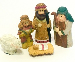 Poly Resin Nativity Set 5 Piece - Christmas Holiday Decor - $9.99
