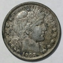 1907D Barber Half Dollar 50¢ Silver Coin Lot # MZ 4740