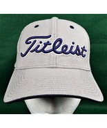 Titleist Golfers Hat Ball Cap Adjustable Tuck Strap Gray Cotton Golf Gol... - $19.40