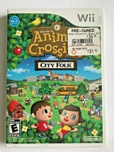 Animal Crossing: City Folk - (Preowned) - Nintendo Wii 2008 Used Condtion  - $12.00