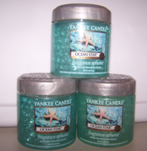 Lot of 3 Yankee Candle Ocean Star Fragrance Spheres Odor Neutralizing Beads - $24.95