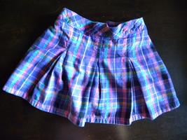Little girl's purple plaid skort - $6.00