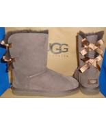 UGG Australia Chocolate Brown Bailey Bow Boots Size US 5,EU 36 NEW #1002954 - $122.71
