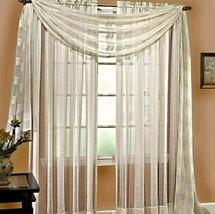 Stylemaster Linen Sheer 6-Yard Window Scarf in Ivory - $21.46