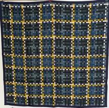 Hermes Bolduc Silk Scarf au Carre Blue Yellow Scarf 90 Brand New - $430.65