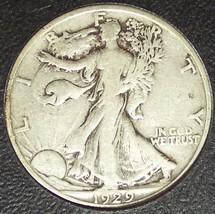 1929-S Walking Liberty Silver Half Dollar F12 #M001 - $13.99