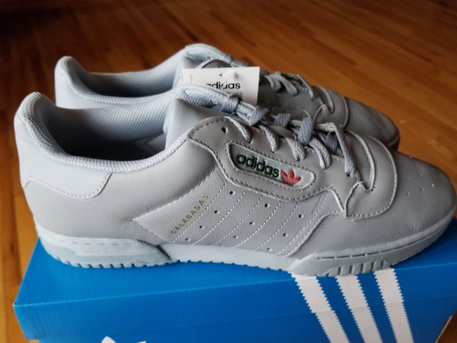 Adidas Yeezy Powerphase Calabasas Grigio CG6422 Nuovo Nella Scatola