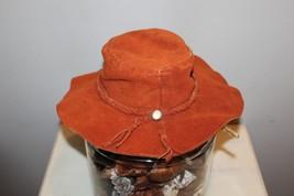 Vintage  Floppy Suede Hat Western Hippie Womens Mens Tassel - $20.78