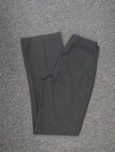GIORGIO ARMANI Black Straight Leg Thin Solid Dress Pants Size 42 7458A - $29.69
