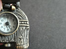 Empowering Vintage Elephant Necklace Watch Bronze Tone Quartz Need Battery image 3