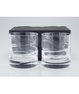 Orrefors Swerve Double Old Fashioned Pair of Glasses w/ Box Nice! - $74.24