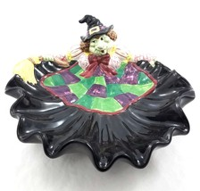 Vintage 1992 Fitz Floyd Halloween Witch Server Ceramic Serving Dish Cand... - $74.16