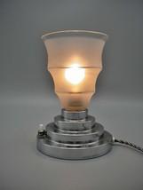Lovely and elegant Art Deco chromed table/bedroom lamp, 1930s - $190.00