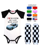 Nascar Onesie Kevin Harvick Watching With Custom Infant Bodysuit Shirt O... - $17.95+