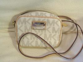 Michael Kors Beige Jet Set MK Crossbody Bag ID CC Holders - MINT - $79.19