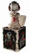 Mezco Toyz Pennywise It Movie Burst A Box Jack in the Box Action Figure ... - £55.39 GBP