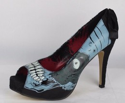 From fist zombie stomper women's shoes heels open toe black gray size 11 - $26.83