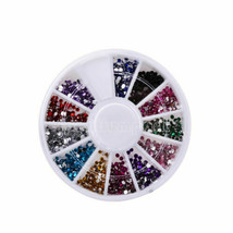 Wheel 1.5mm Nail Art Rhinestones Glitter Diamond Gems 3D Tips DIY Decoration - $11.60