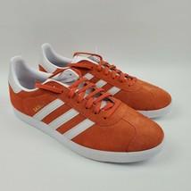 adidas Men Originals Gazelle Raw Amber Orange BD7498 Size 10.5 - $59.95