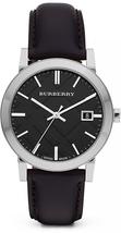 Burberry BU9009 The City Black Dial Leather Strap Watch - 38 mm - Warranty - $235.00