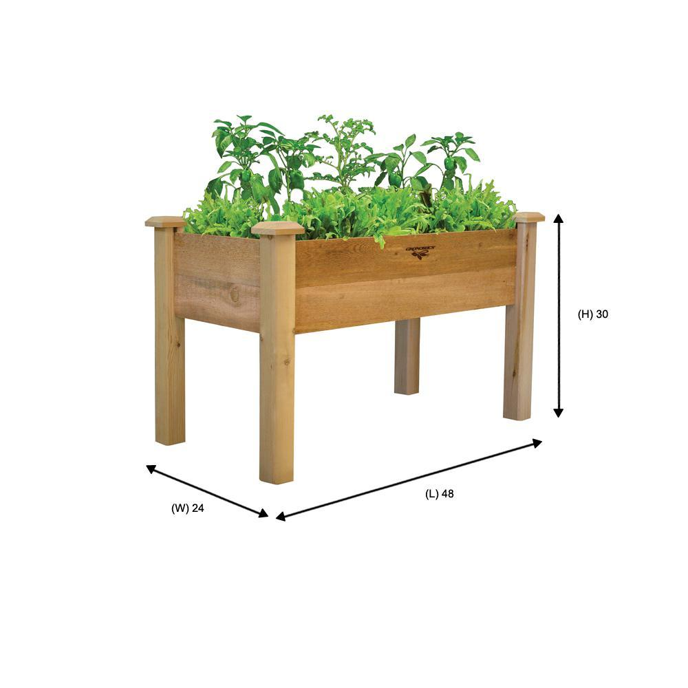 Gronomics Elevated Garden Bed Rectangle Fabric Liner Herbs Vegetable Flower Bed