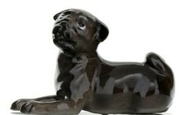Hagen Renaker Dog Pug Baby Black Ceramic Figurine image 1