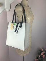 Michael Kors Bag Cassie Tote Medium NS Tote Leather White Gray Black B2R image 3