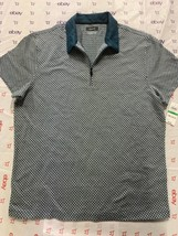 Alfani T-Shirt Trans Polo(1/4 Zip)  , Size:L   , MSRP 50 $ - $18.99