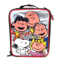 NWT Charlie Brown Snoopy Woodstock Lucy Linus Sally Peanuts Soft Lunch B... - $13.09
