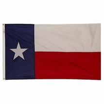 Valley Forge Huge Texas Flag, 6' x 10', Nylon, Sewn, 100% Made in USA! - $135.60