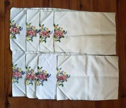 8 Vintage Placemats Applique Flowers  - $25.73