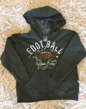 Hoodie Jacket Hooded Zip Football New Boys Small Soft Sweats - $9.99