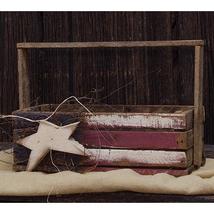 Patriotic LATH FLAG CRATE Country Farmhouse Americana Primitive Wooden B... - $44.99