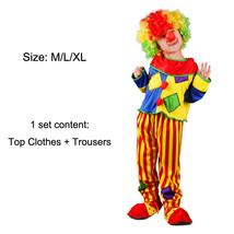TPDT* patch clown Halloween Costumes Kids Children Funny Clown Costume N... - £33.99 GBP