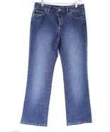 MK Michael Kors Womens Jeans Bootcut SZ 8  28  30x32 Top Sticthing Indigo - $33.81