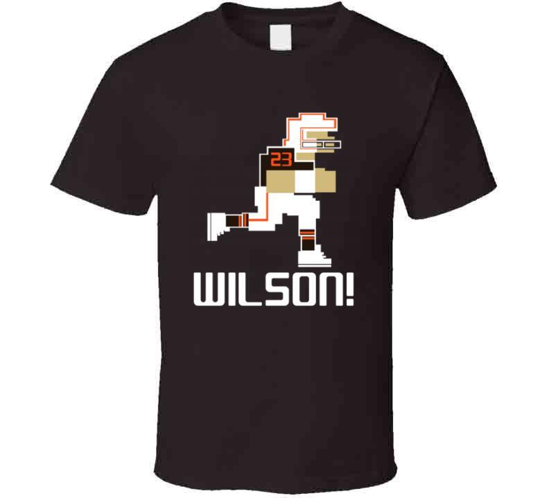 Howard Wilson # 23 Tecmo Bowl Cleveland Football Athlete Fan T Shirt