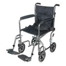 Drive Medical TR37E-SV Lightweight Steel Transport Wheelchair Fixed Full... - $101.25