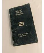 1982 Walker's Pocket Estimator Frank R. Walker Co. Construction - $9.90