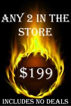 FRI-SUN PICK ANY 2 IN THE STORE $209 INCLUDES NO DEALS MYSTICAL TREASURES - $0.00