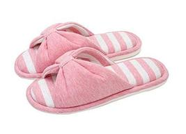 (Made By Cotton) Skidproof The Simple Style Of Home Slippers(Pink)