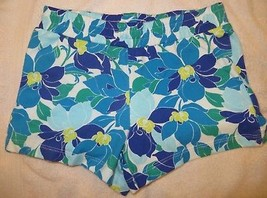 Gymboree Mix N Match Blue Flower Floral Knit Shorts Size L Large 10-12 1... - $15.76