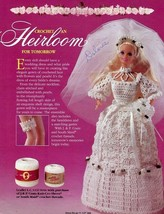 Victorian Bridal Gown Heirloom J&P Coats Rare HTF Barbie Doll Crochet PA... - $4.47