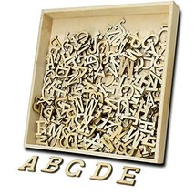9 Packs of A-Z, 234 Pcs Wooden Alphabet Letters Shapes with Storage Box,... - $20.11