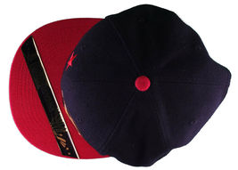 Dissizit! Side Bear Black Red Brim Snapback Cap Hat California Star Flag image 6