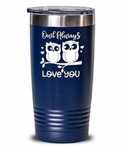 Valentine's Day Tumbler - I Love You - Owl Pun Double Wall Insulated Thermos for - $32.66