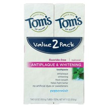 Tom's Of Maine Toothpaste - Anti Plaque - White - Case Of 3 - 2 Count - $48.93