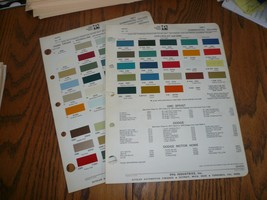 1971 Ford Chevy GMC Intern'l Commercial Ditzler PPG Paint Chips - $14.49