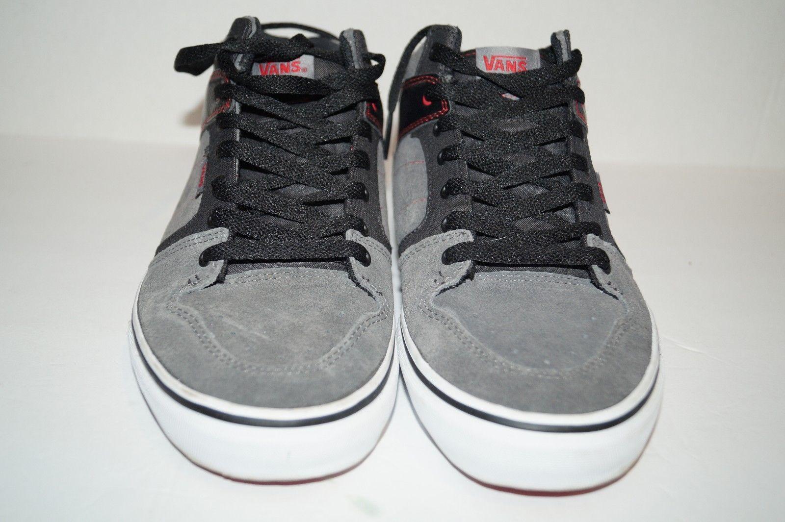 85218409f5 VANS Vulcanized Mid Top Shoes Mens Suede Canvas Skate Size 8.5